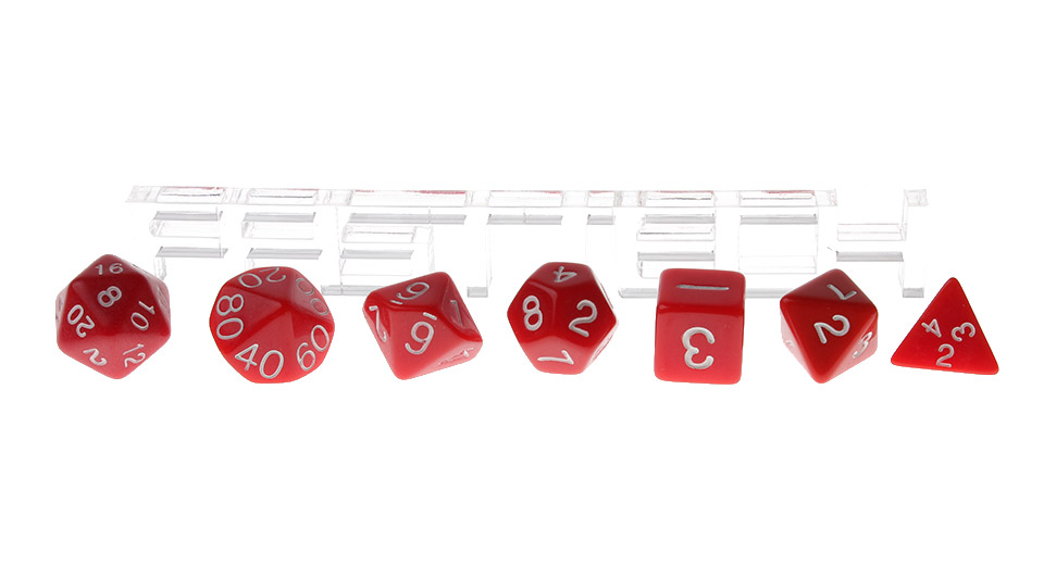 Polyhedral Dice Set for Dungeons & Dragons (7 Pieces) Red, 7 Pieces