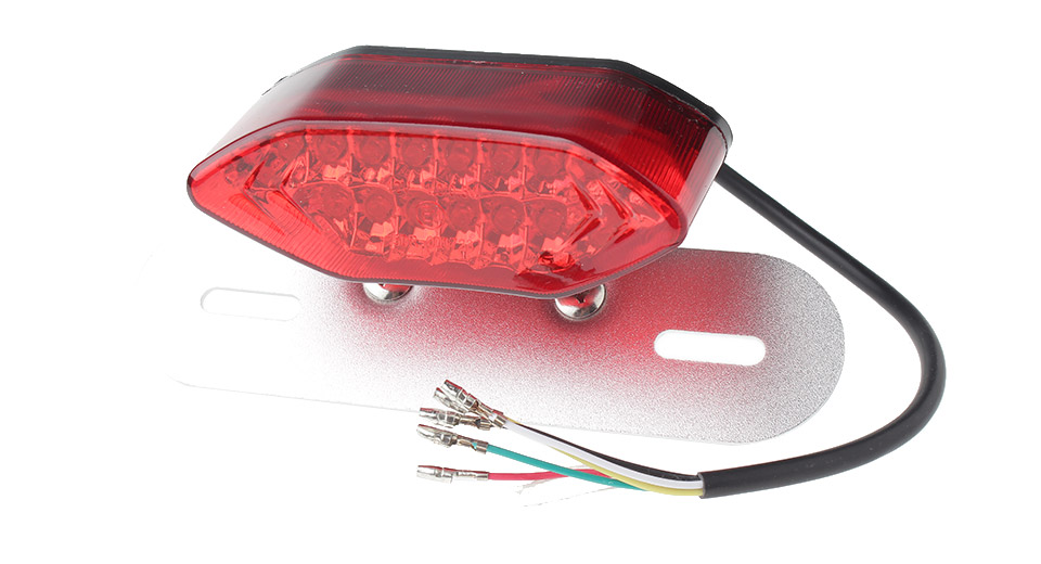 16*LED 760LM Red + Yellow Light LED Motorcycle Tail Turn Signal Light