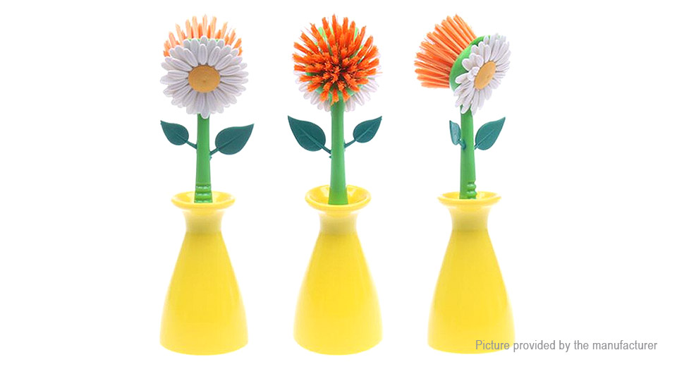 Sun Flower Shaped Kitchen Cleaning Brush