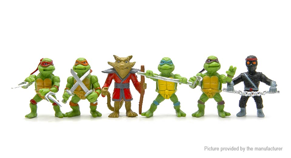 Teenage Mutant Ninja Turtles Mini Figure Doll Toy (6-Piece Set)