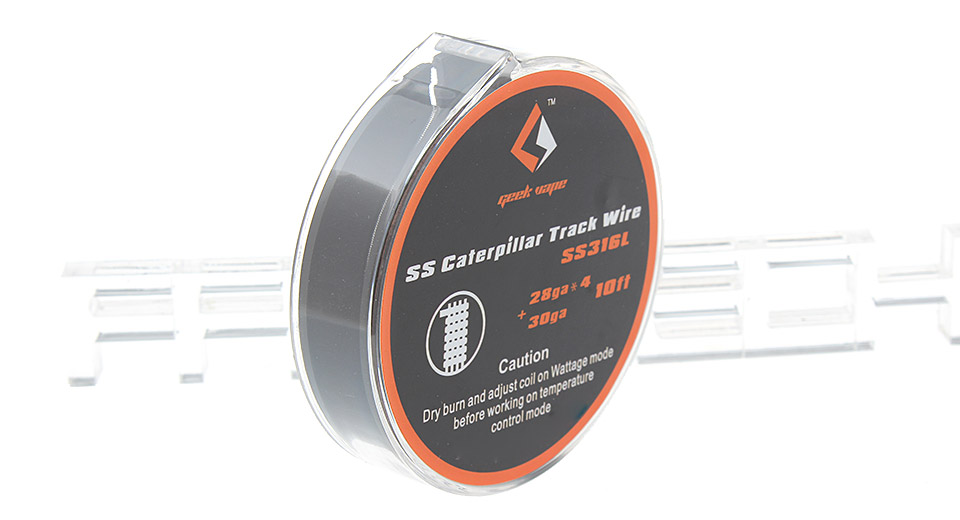 Authentic GeekVape 316L Stainless Steel Caterpillar Track Heating Wire for RBA Atomizer, Caterpillar Track, 28*4+30 AWG, 3m