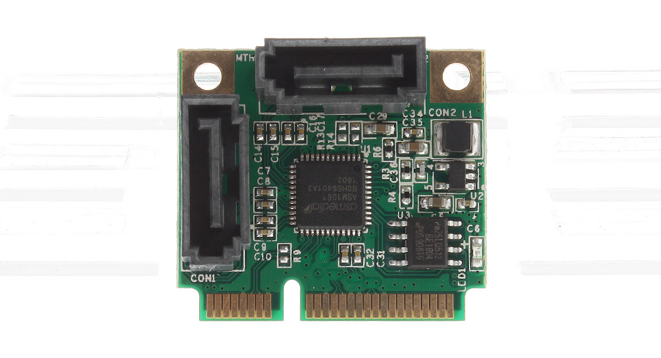 Mini PCIe to 2*SATA III Extension Card Adapter