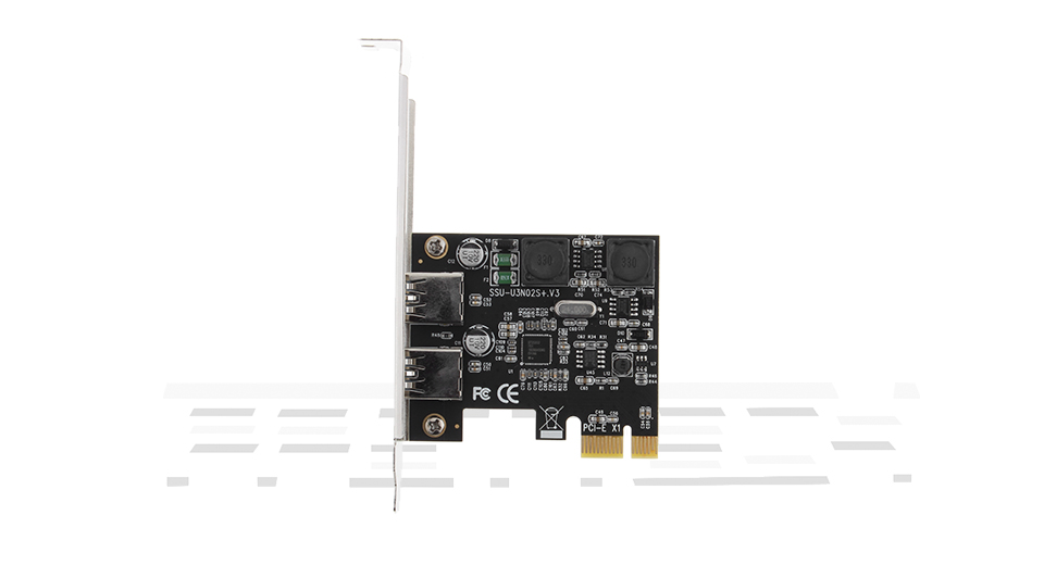 PCIe to 2*USB 3.0 Extension Card Converter Adapter
