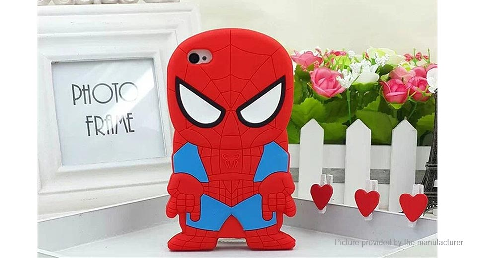 3D Spider-man Styled Silicone Protective Back Case for iPhone 6s/6