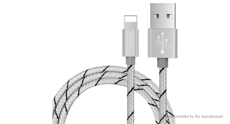 Product Image: plusme-8-pin-to-usb-2-0-braided-data-sync