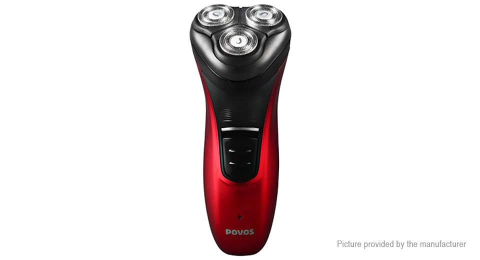 Image of Authentic Povos PW930 Rechargeable Electronic 3-Head Rotary Shaver