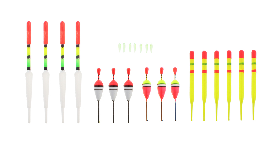 Vertical Buoy Fishing Float Set (15 Pieces)