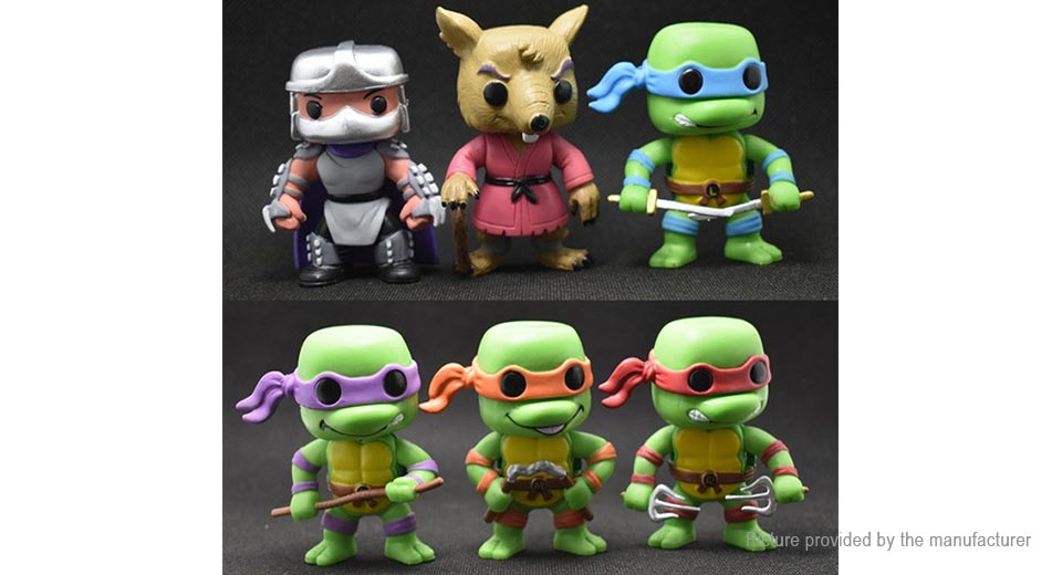Teenage Mutant Ninja Turtles Figure Doll Toy Set (6-Piece Set)