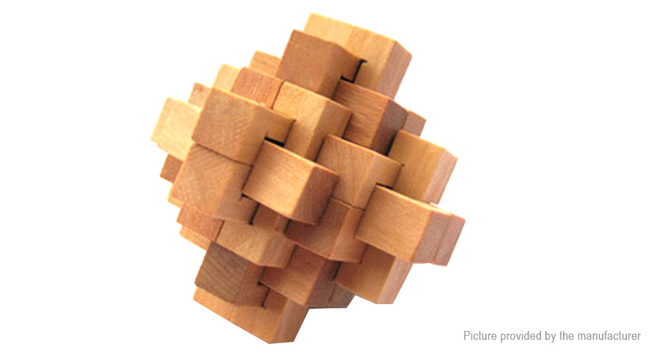 Image of 24-Joint Lock Styled Wooden 3D Unlock Jigsaw Puzzle Toy