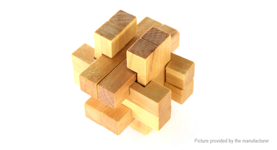 Image of 12-Joint Lock Styled Wooden 3D Unlock Jigsaw Puzzle Toy