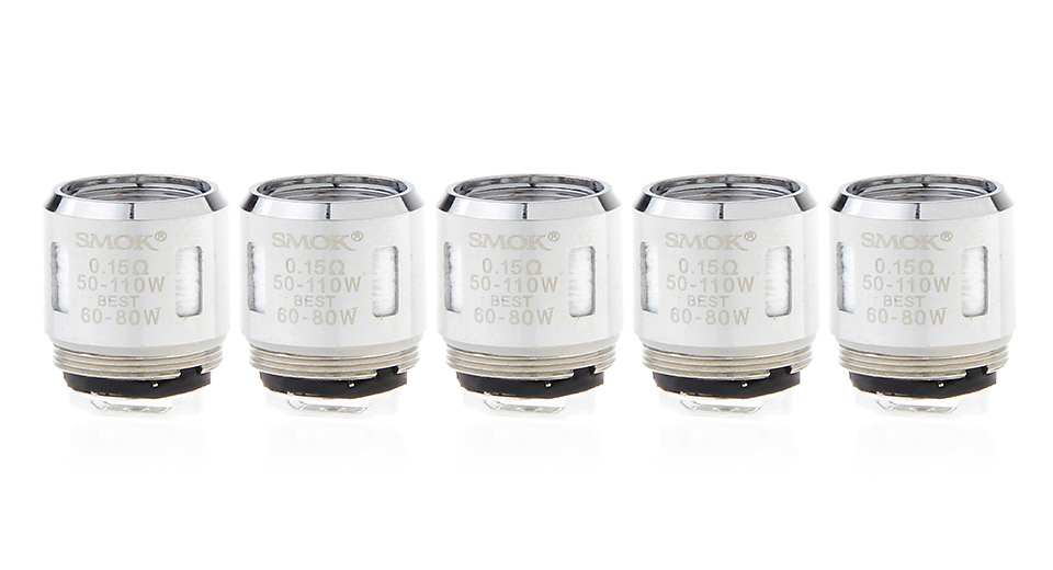 Authentic Smoktech SMOK TFV8 Baby Replacement T8 Coil Head (5-Pack)
