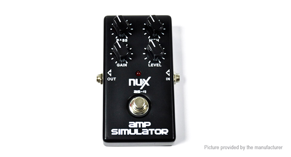 NUX AS-4 True Bypass Design Electric Guitar Amplifier Simulator Effect Pedal