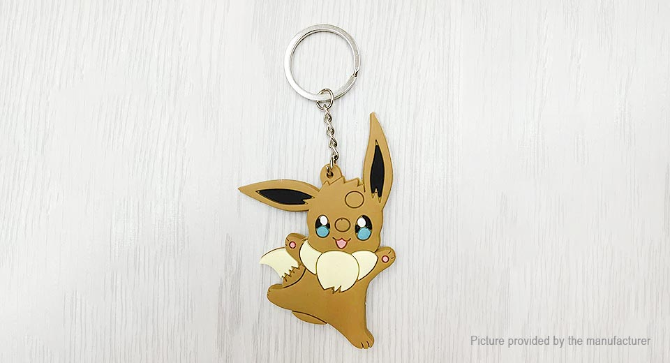 Pocket Monster Eevee Styled Soft PVC Key Ring Pendant