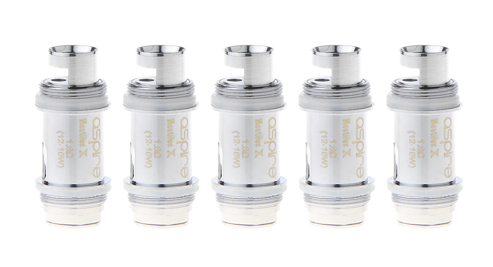 Authentic Aspire Nautilus X Clearomizer Replacement Coil Head (5-Pack)