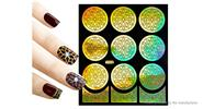Buy Reusable DIY Nail Art Template Stickers Stamp Stencil Guide Pattern - Y002