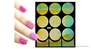 Buy Reusable DIY Nail Art Template Stickers Stamp Stencil Guide Pattern - Y005