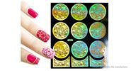 Buy Reusable DIY Nail Art Template Stickers Stamp Stencil Guide Pattern - Y007