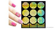 Buy Reusable DIY Nail Art Template Stickers Stamp Stencil Guide Pattern - Y008