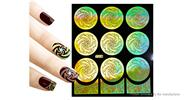 Buy Reusable DIY Nail Art Template Stickers Stamp Stencil Guide Pattern - Y009