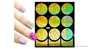 Buy Reusable DIY Nail Art Template Stickers Stamp Stencil Guide Pattern - Y012