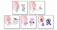 Buy Nail Art Sticker Water Transfer Stickers Flower Decals Tips Decoration (5 Pieces) Pattern - XF1276/1277/1278/1279/1280, 5 Pieces