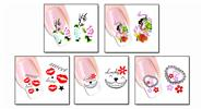 Buy Nail Art Sticker Water Transfer Stickers Flower Decals Tips Decoration (5 Pieces) Pattern - XF1271/1272/1273/1274/1275, 5 Pieces
