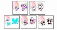 Buy Nail Art Sticker Water Transfer Stickers Flower Decals Tips Decoration (5 Pieces) Pattern - XF1261/1262/1263/1264/1265, 5 Pieces
