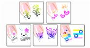 Buy Nail Art Sticker Water Transfer Stickers Flower Decals Tips Decoration (5 Pieces) Pattern - XF1256/1257/1258/1259/1260, 5 Pieces