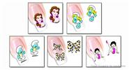 Buy Nail Art Sticker Water Transfer Stickers Flower Decals Tips Decoration (5 Pieces) Pattern - XF1241/1242/1243/1244/1245, 5 Pieces
