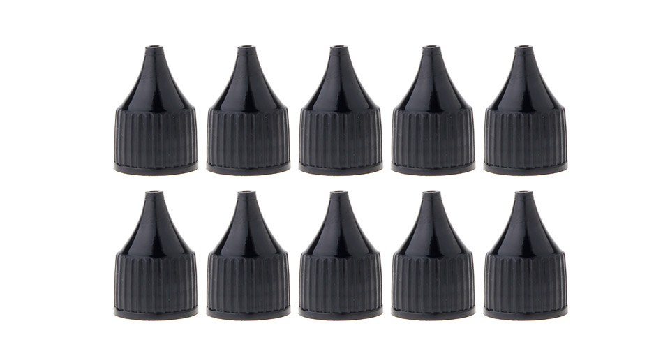 Replacement PE Cap for 30ml/50ml E-Liquid Dropper Bottle (10-Pack) Cap, 30ml/50ml, Black, 10-Pack