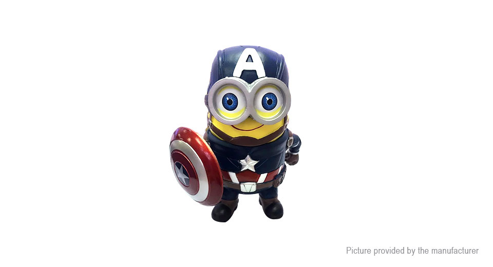 Avengers Cartoon Mini Capsule Captain America Action Figure Doll Toy