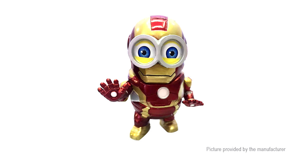 Avengers Cartoon Mini Capsule Iron Man Action Figure Doll Toy