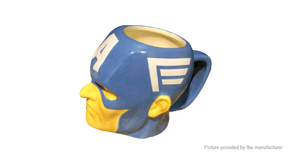 Marvel the Avengers Captain America Styled Porcelain Mug Cup (200ml)
