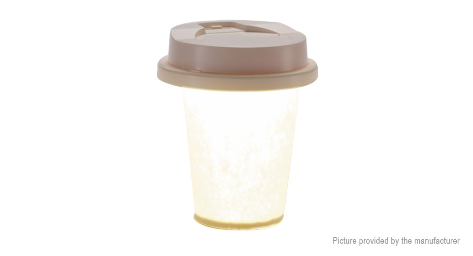 Paper Coffee Cup Styled LED Night Light