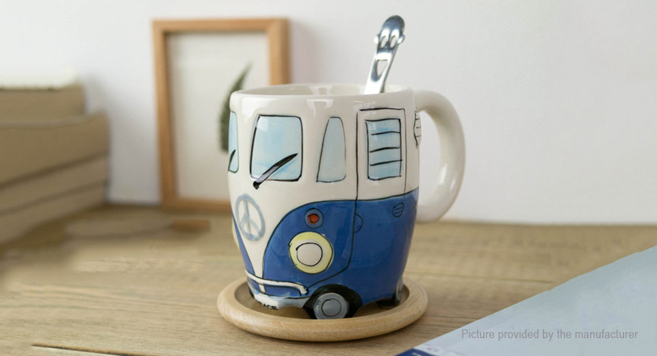 Hand-painted Bus Styled Porcelain Mug Cup (300ml)