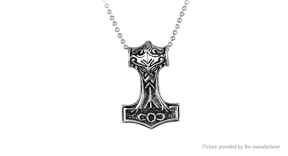 Marvel The Avengers Thor's Hammer Viking Amulet Mjolnir Pendant Necklace