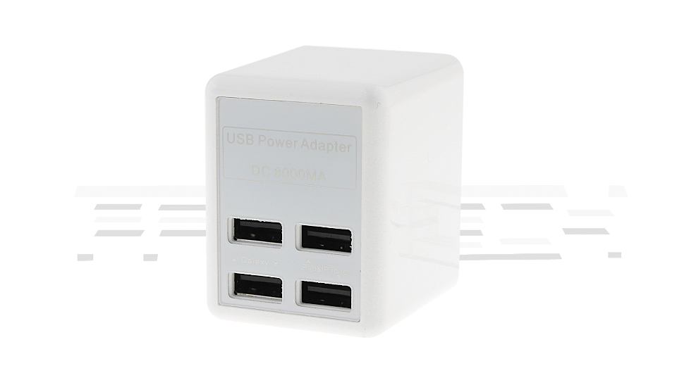 4-Port USB Wall Charger Power Adapter (UK)
