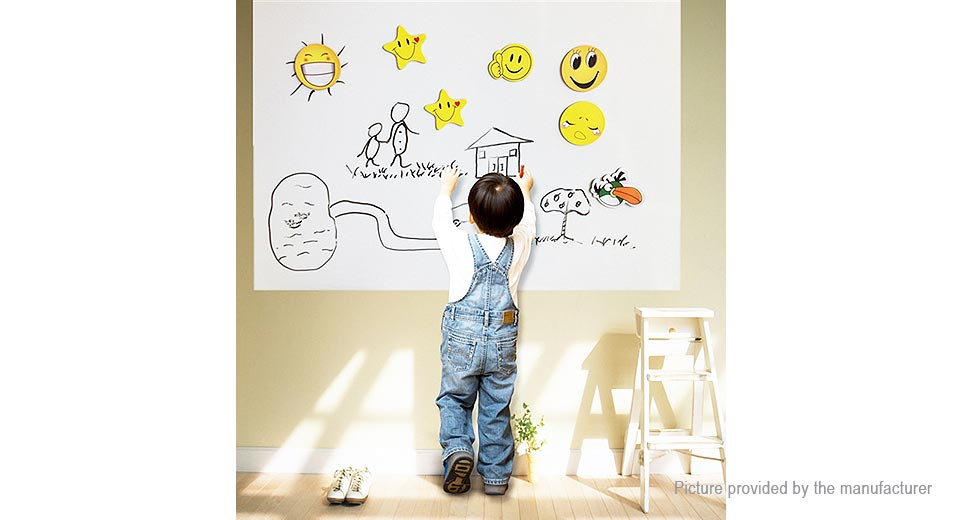Self Adhesive Removable Whiteboard Wall Sticker (60*200cm)