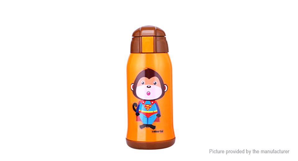 Kumamot Superman Monkey Styled Children Thermos Water Bottle Vacuum Cup (600ml)