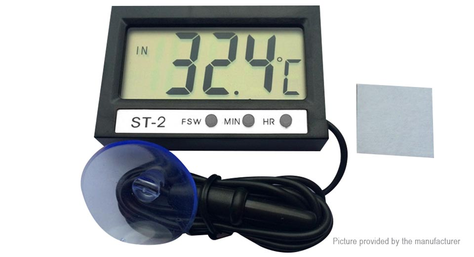 YouKong ST-2 Car LCD Digital Indoor/Outdoor Thermometer
