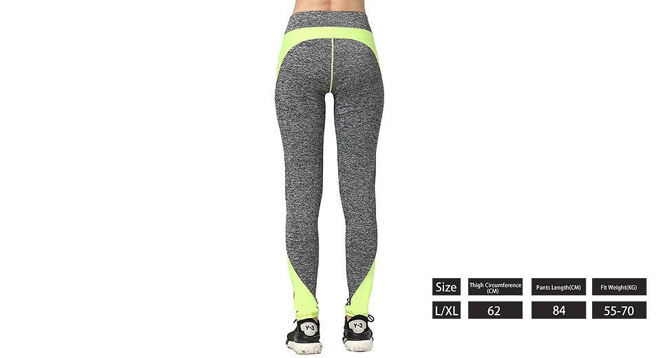 Women's Color Blocking Sports Fitness Tight Yoga Pants (Size XL)