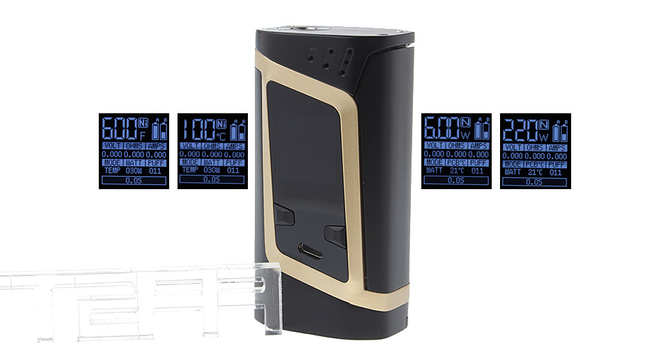 Authentic Smoktech SMOK Alien 220W TC VW APV Box Mod VW/TC Mod, Gold