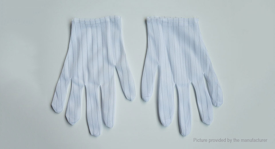 Image of Full Finger Striped Anti-static Labor Working Gloves (5-Pair)
