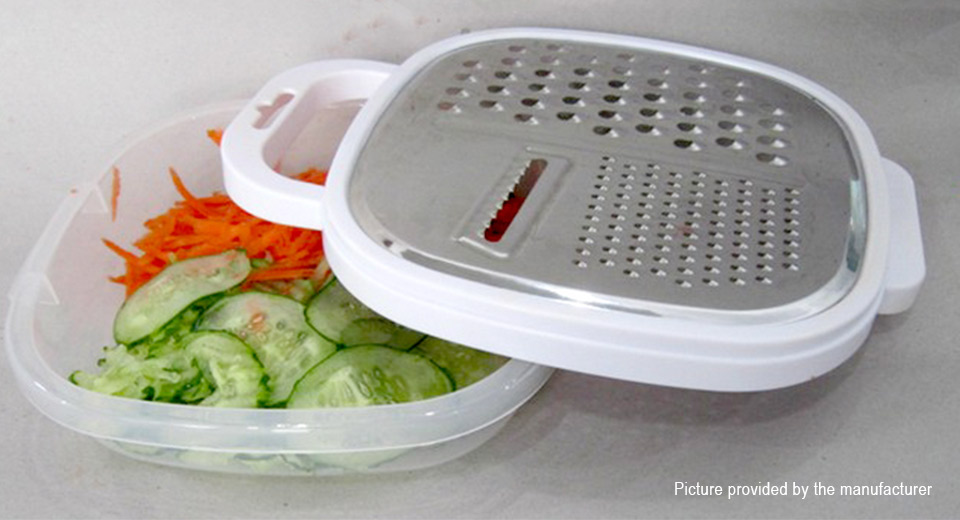 3-in-1 Food Vegetable Grater Slicer Container Box