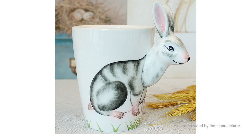 3D Cartoon Rabbit Porcelain Mug Cup (350ml)