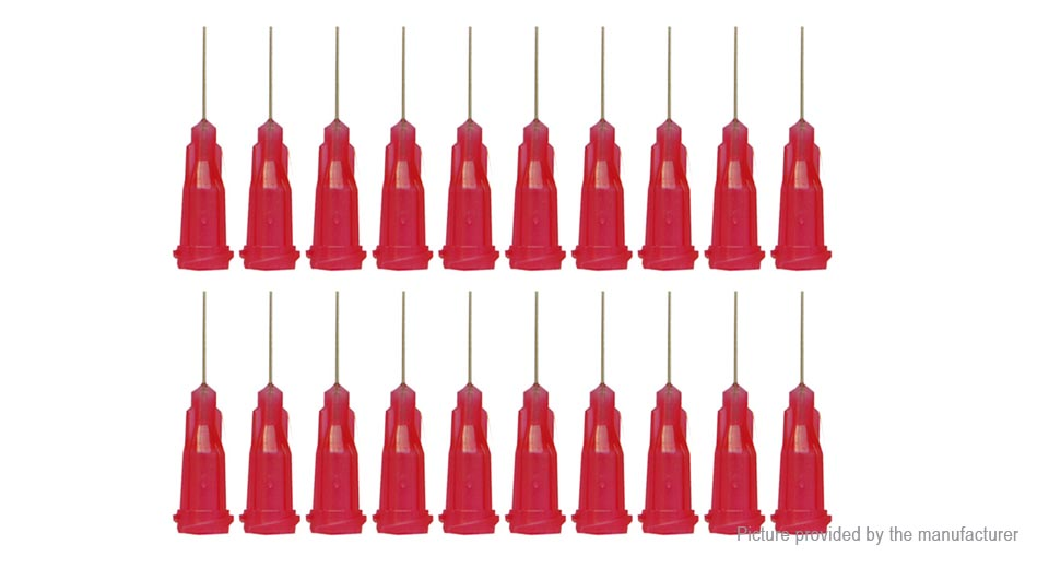 25G Dispensing Refilling Needle for RTA Atomizer (20-Pack) 25G, Red, 20-Pack, 30mm