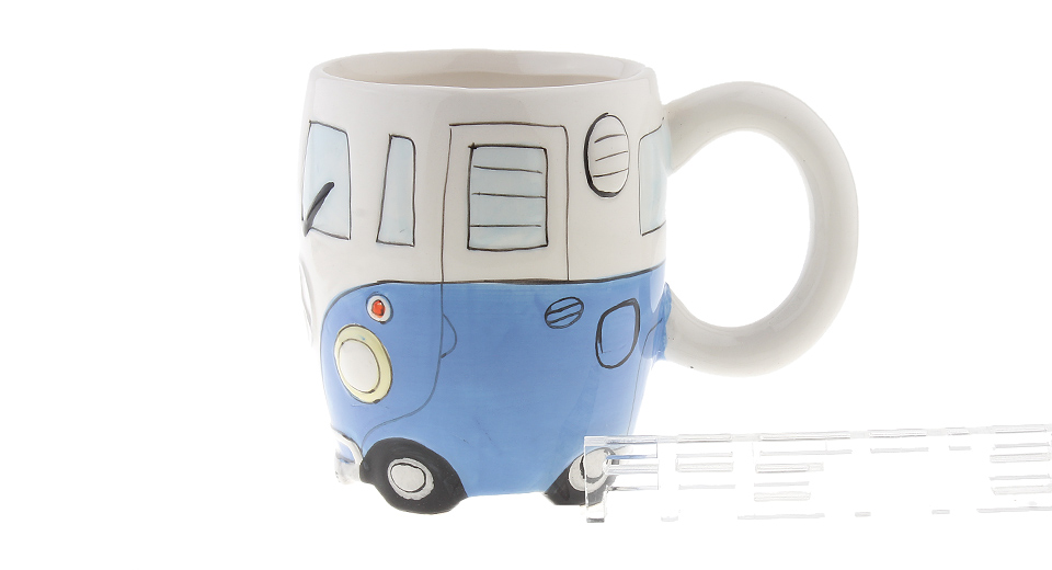 Hand-painted Bus Styled Porcelain Mug Cup (400ml)