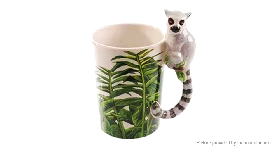 3D Cartoon Monkey Porcelain Mug Cup (300ml)