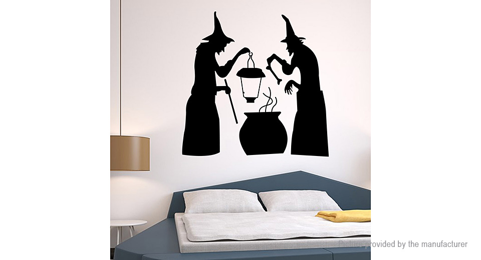 Ghost Styled Removable Wall Sticker Halloween Decor