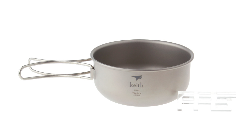 Keith Ti5323 Titanium Bowl (300ml)